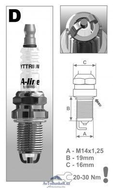 Свечи BRISK A-line Largus 16кл