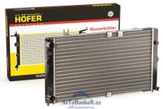 Радиатор охлаждения алюминиевый ВАЗ 1118 без кондиционера Hofer