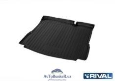 Коврик багажника, RIVAL, для Lada Xray без полки и без пластиковой накладки в проеме багажника 2016-