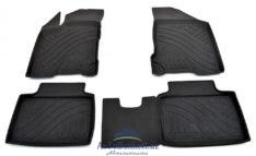 Коврики салона\ полики резиновые с бортиком для Lada Vesta